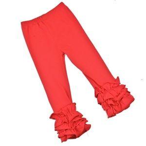 Other - ❤️Toddler Girls Red Elastic Waist Ruffled Leggings